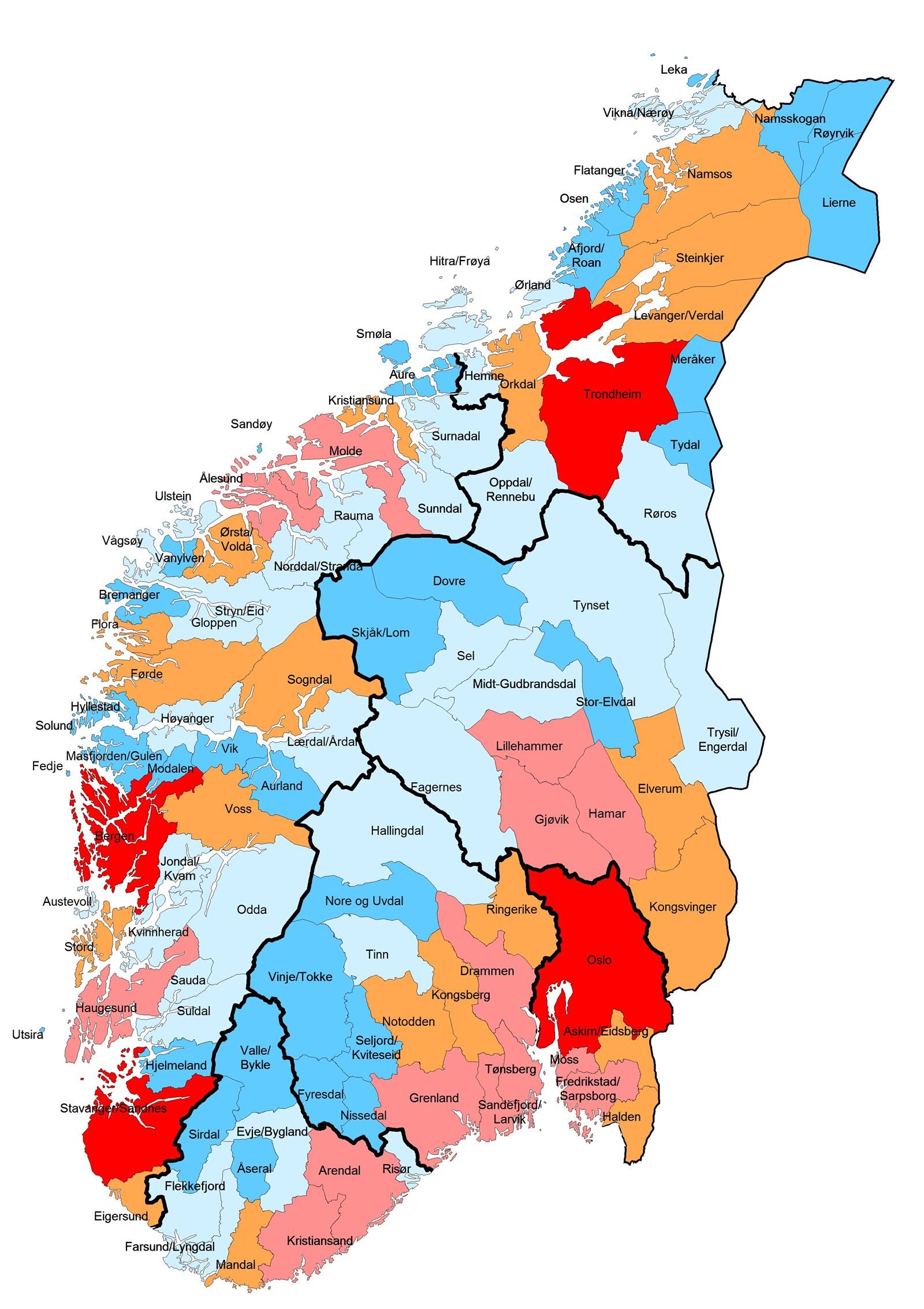 kommune kart over norge Regionale utviklingstrekk 2013 (RUT 2013)   regjeringen.no kommune kart over norge