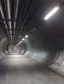 Svalbard Global Seed Vault: The access tunnel is now repaired. Photo: LMD
