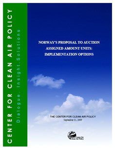 Norway's Proposal to Auction Assigned Amount Units: Implementation options