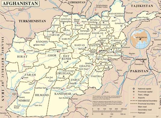 kart over afghanistan Kart over Afghanistan   regjeringen.no kart over afghanistan